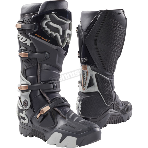 Fox Charcoal Instinct Offroad Boots - 17802-028-8