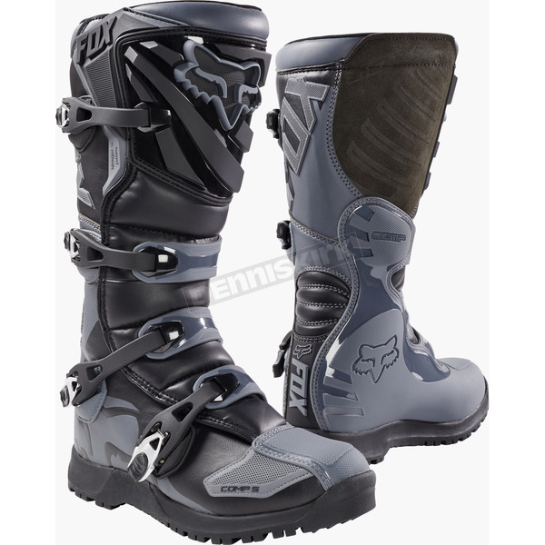 Fox Black/Gray Comp 5 Offroad Boots - 17780-014-14