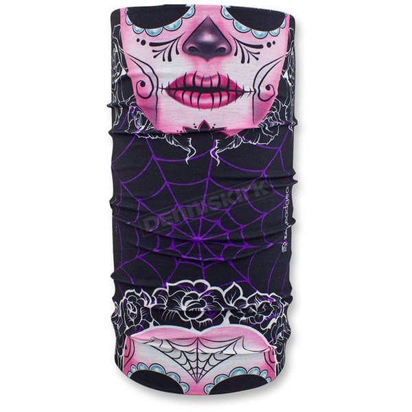Zan Headgear Sugar Skull Motley Tube - T108