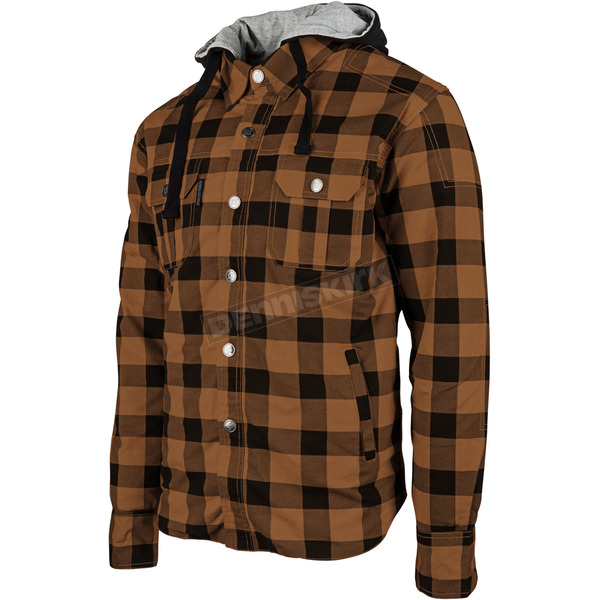 Speed and Strength Brown Standard Supply Moto Shirt - 884238