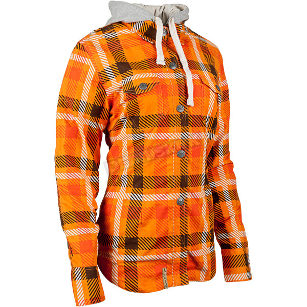 Speed and Strength Women's Orange True Romance Moto Shirt - 884257