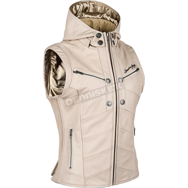 Speed and Strength Women's Cream Hell's Belles Leather Vest - 884289