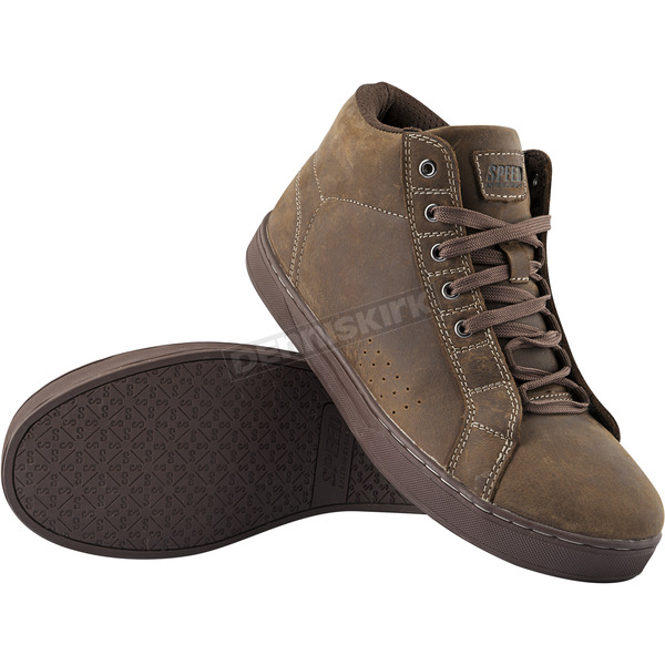 Speed and Strength Brown Soul Shaker Moto Shoes - 884351