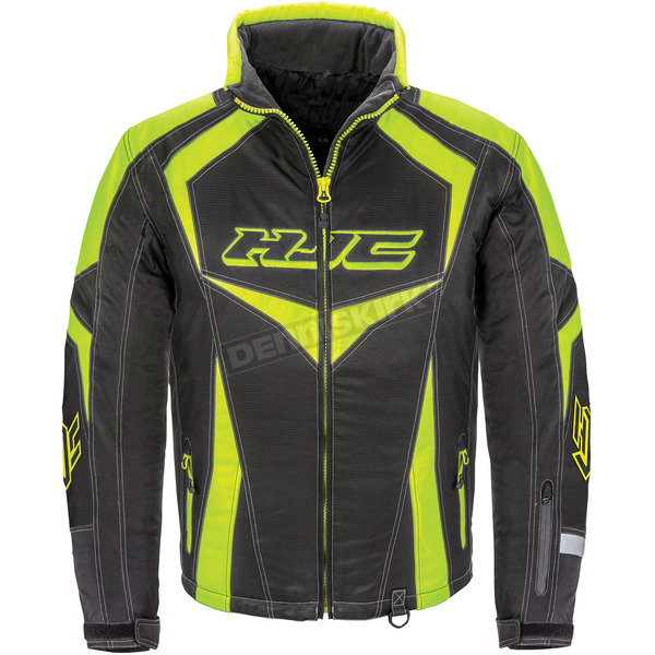 HJC Black/Hi-Viz Neon Green Survivor Jacket - 1613-035