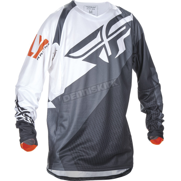 Fly Racing Black/White/Orange Evolution 2.0 Jersey - 370-220X