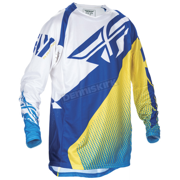 Fly Racing Blue/Yellow/White Evolution 2.0 Jersey - 370-221L