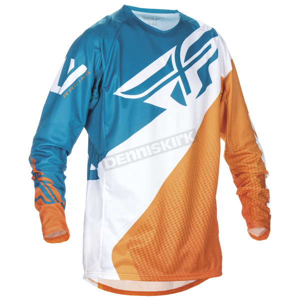 Fly Racing Orange/Dark Teal Evolution 2.0 Jersey - 370-2272X