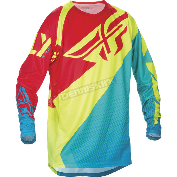 Fly Racing Dark Teal/Hi-Vis Evolution 2.0 Jersey - 370-229S