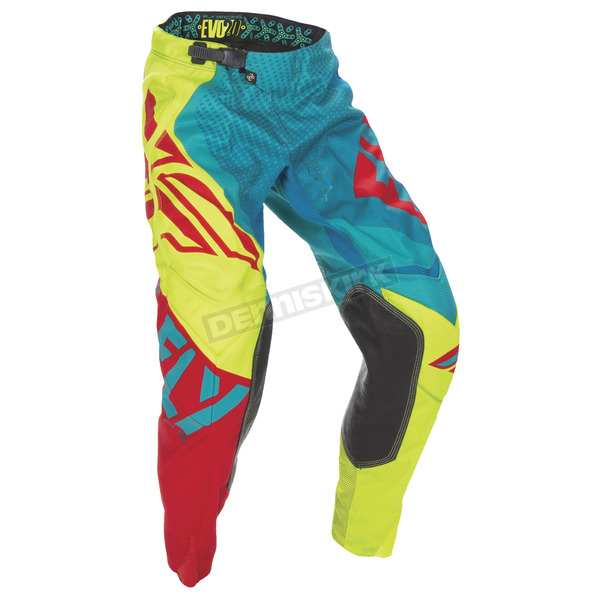 Fly Racing Dark Teal/Hi-Vis Evolution 2.0 Pants - 370-23932