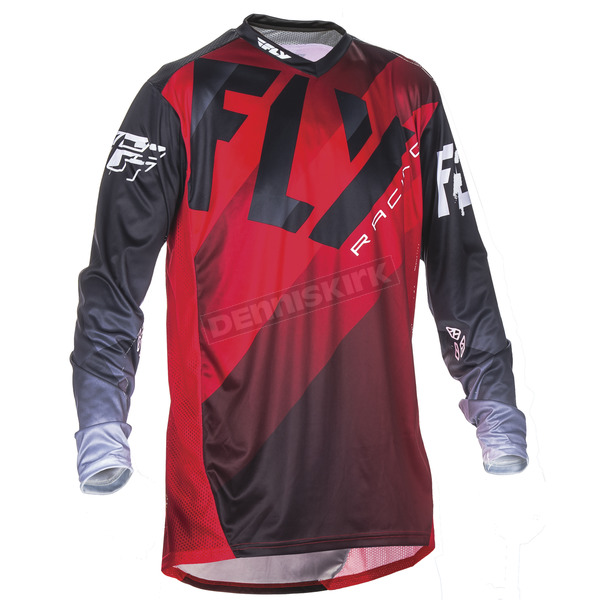Fly Racing Red/Black/White Lite Hydrogen Jersey - 370-722M