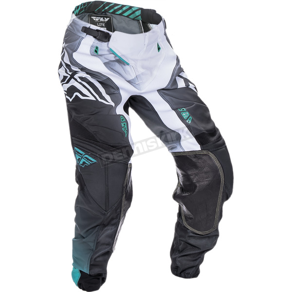 Fly Racing Black/White/Teal Lite Hydrogen Pants - 370-73038