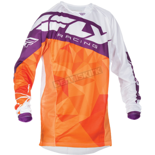 Fly Racing Orange/Purple Kinetic Crux Jersey - 370-527L