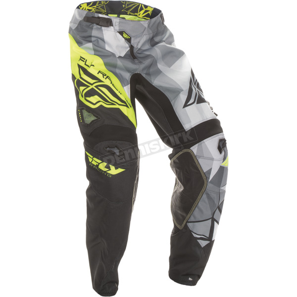 Fly Racing Black/Hi-Vis Kinetic Crux Pants - 370-53036