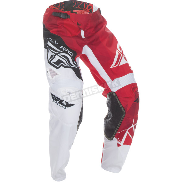 Fly Racing Youth Red/White Kinetic Crux Pants - 370-53222