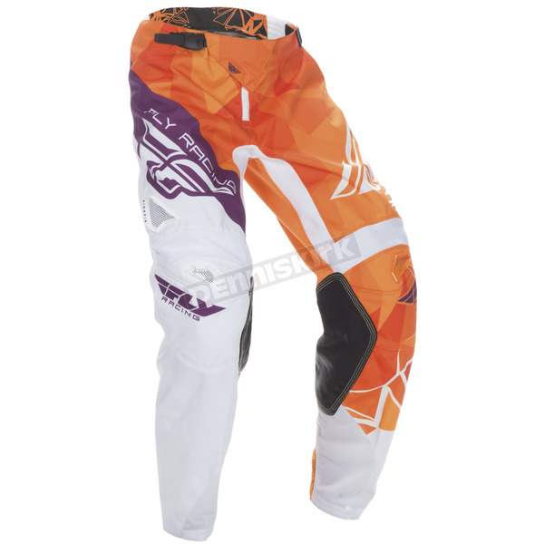 Fly Racing Youth Orange/Purple Kinetic Crux Pants - 370-53720