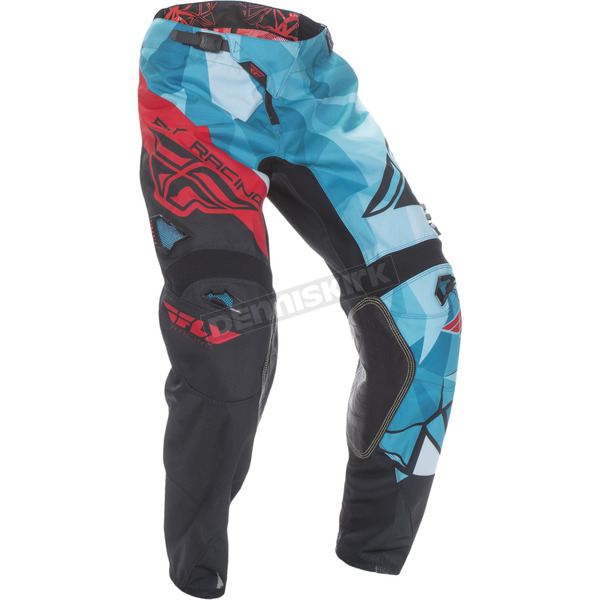 Fly Racing Teal/Red Kinetic Crux Pants - 370-53934