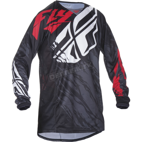 Fly Racing Black/Red Kinetic Relapse Jersey - 370-420X