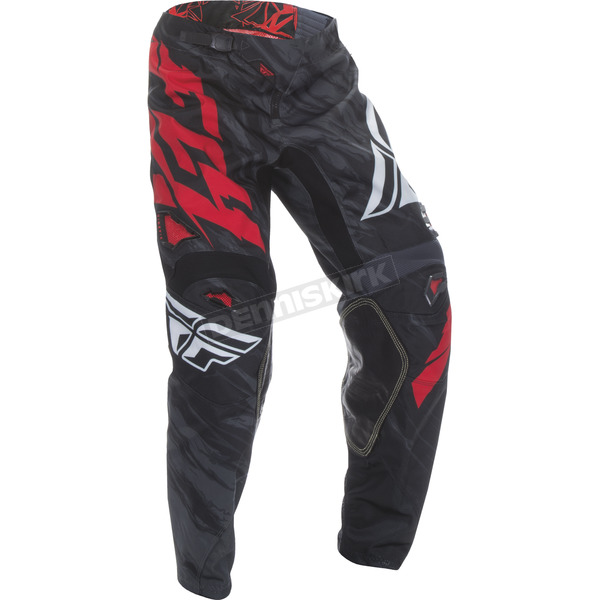 Fly Racing Youth Black/Red Kinetic Relapse Pants - 370-43022