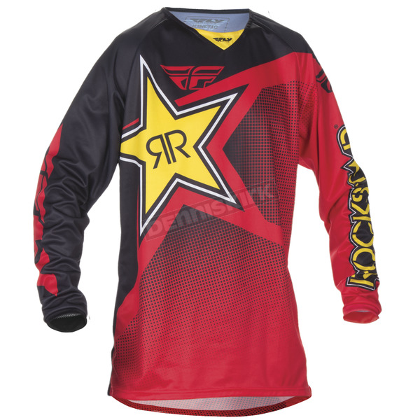 Fly Racing Red Rockstar Kinetic Jersey - 370-662L