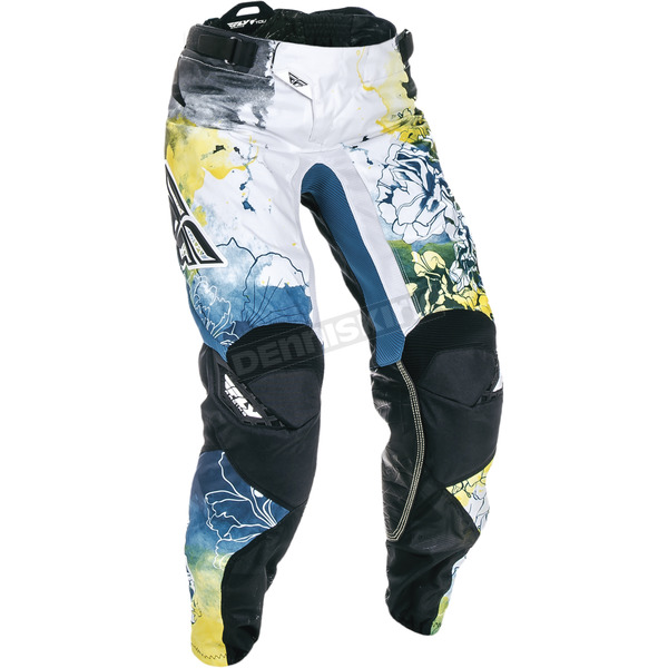 Fly Racing Women's Teal/Yellow Kinetic Pants - 370-63811
