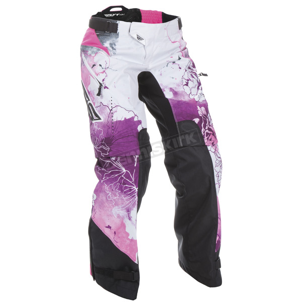Fly Racing Women's Pink/Purple Kinetic Over Boot Pants - 370-65208