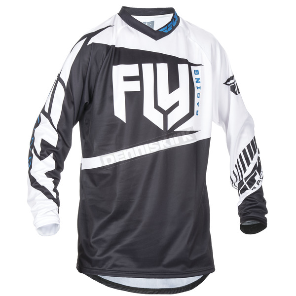 Fly Racing Black/White F-16 Jersey - 370-9203X
