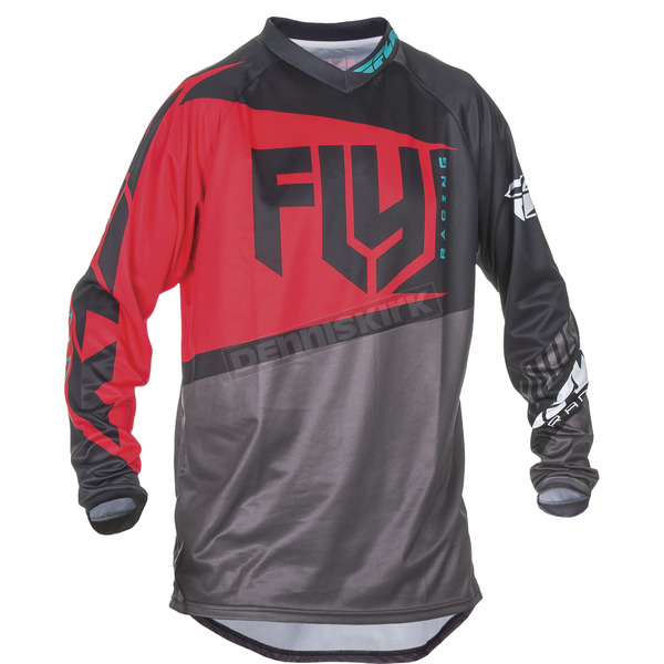 Fly Racing Youth Red/Black/Gray F-16 Jersey - 370-922YX