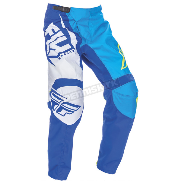 Fly Racing Blue/Hi-Vis F-16 Pants - 370-93136