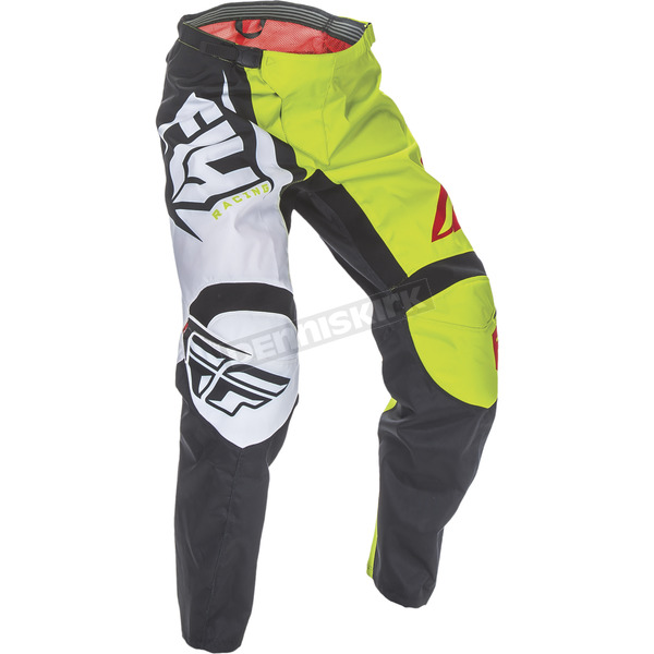 Fly Racing Youth Black/Lime F-16 Pants - 370-93522