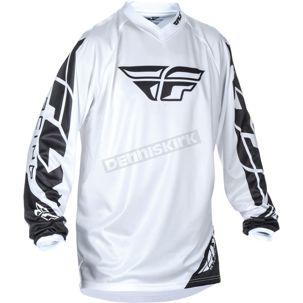 Fly Racing White Universal Jersey - 370-994M