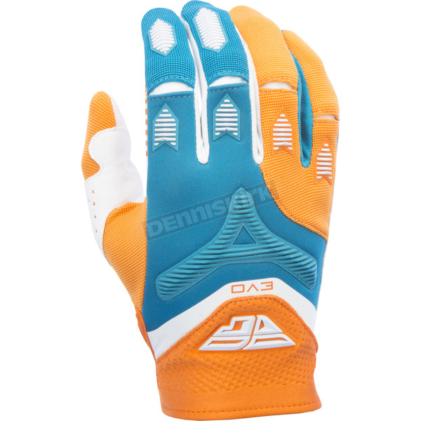 Fly Racing Orange/Dark Teal Evolution 2.0 Gloves - 370-11712