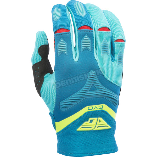 Fly Racing Dark Teal/ Hi-Vis Evolution 2.0 Gloves - 370-11908