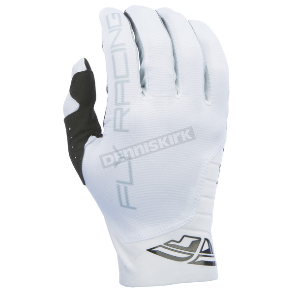 Fly Racing White Pro Lite Gloves - 370-81408