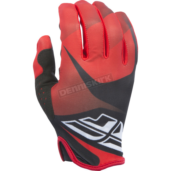 Fly Racing Red/Black/White Lite Gloves - 370-01209