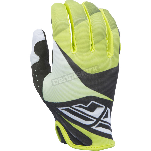 Fly Racing Youth Lime/Black/White Lite Gloves - 370-01505