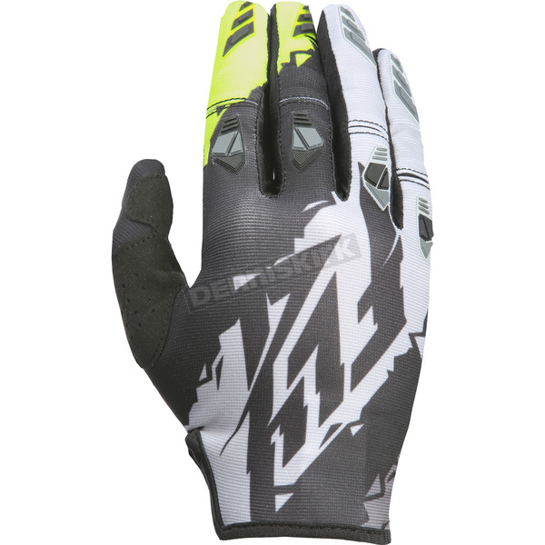 Fly Racing Youth Black/Hi-Vis Kinetic Gloves - 370-41904
