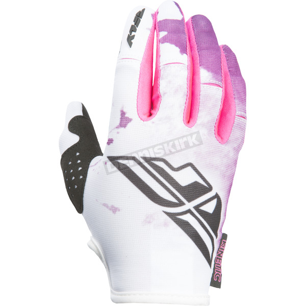 Fly Racing Women's Pink/Purple Kinetic Gloves - 370-61207