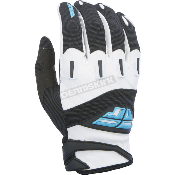 Fly Racing Black/White F-16 Gloves - 370-91013