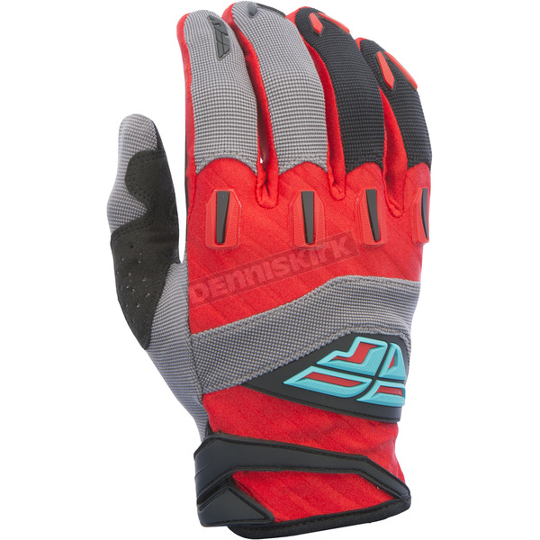 Fly Racing Youth Red/Black/Gray F-16 Gloves - 370-91205