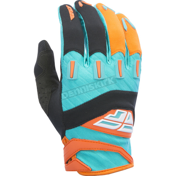 Fly Racing Youth Orange/Teal F-16 Gloves - 370-91704