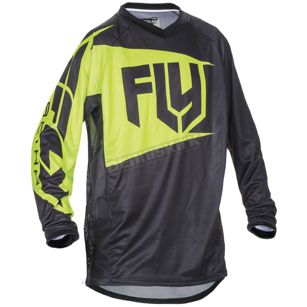 Fly Racing Black/Hi-Vis Patrol Jersey - 370-649M