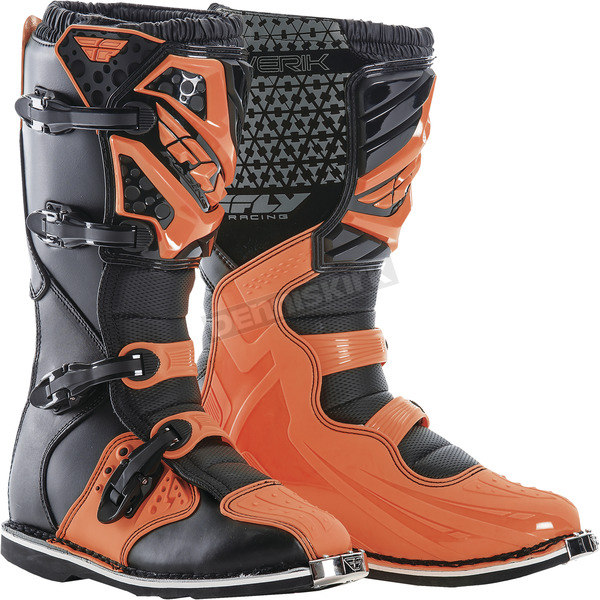 Fly Racing Orange Maverik Boots - 364-56910