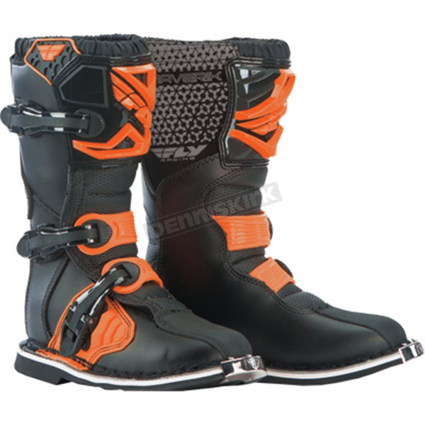 Fly Racing Youth Orange Maverik Boots - 364-56902
