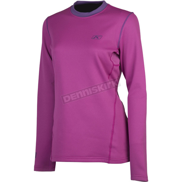 Klim Women's Pink Solstice 2.0 Base Layer Shirt - 3201-001-120-700