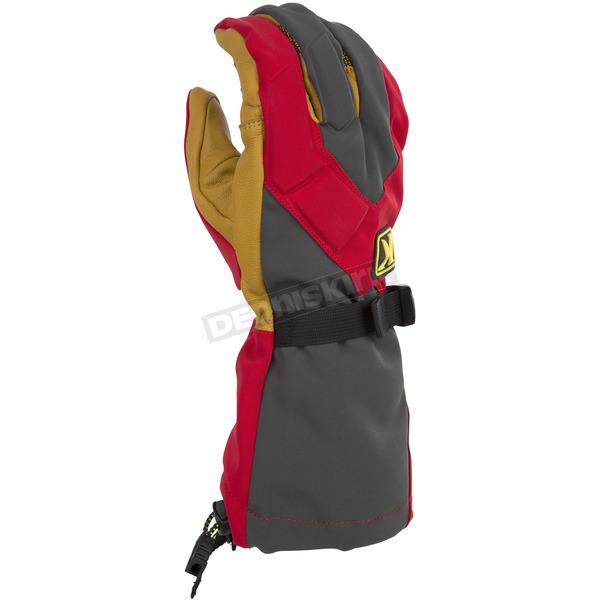 Klim Red/Gray Togwotee Gloves - 3337-004-140-100