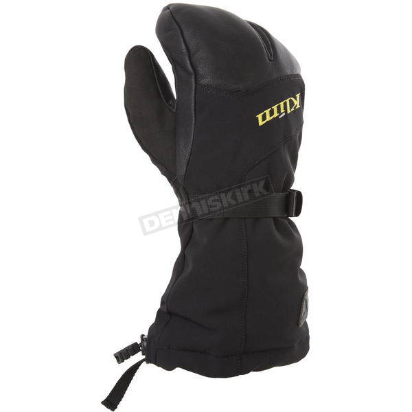 Klim  Black Tundra Split Finger Gloves - 3384-000-110-000