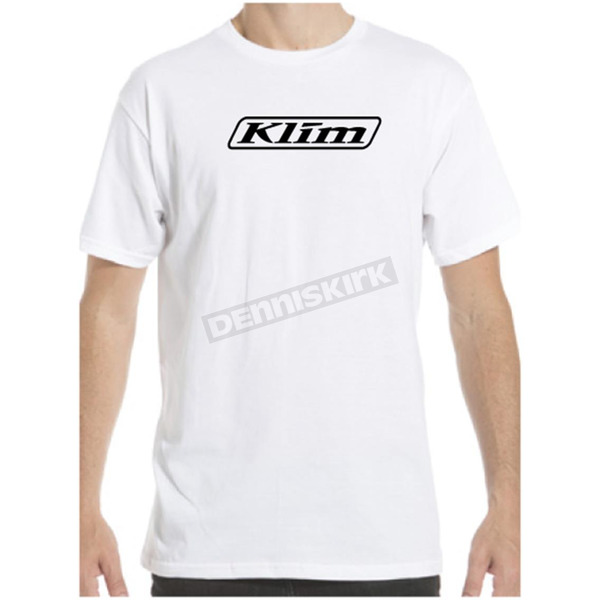 Klim White Word T-Shirt - 3734-000-150-800