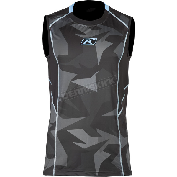 Klim Gray Camo Aggressor Cool -1.0 Sleeveless Base Layer Shirt - 3502-000-130-330