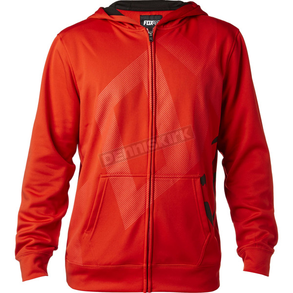 Fox Flame Red Hydratix Closed Circuit Zip-Up Hoody - 18864-122-L