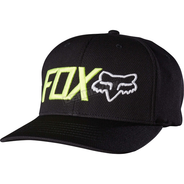 Fox Black Trenches Flex-Fit Hat - 18733-001-S/M